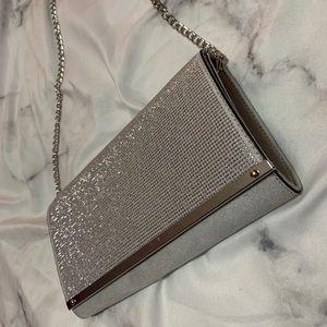 Silver sequin crossbody bag